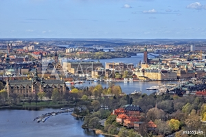 Picture of Air view of Stockholm City, Stockholm, Sweden